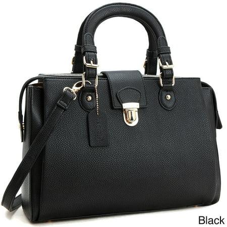 Dasein  Front Snap Lock Satchel/Crossbody Handbag ()