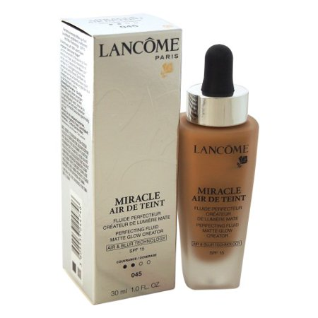 Lancome Miracle Air De Teint Perfecting Fluid Matte Glow Creator SPF 15, #045 Sable Be, 1 Oz