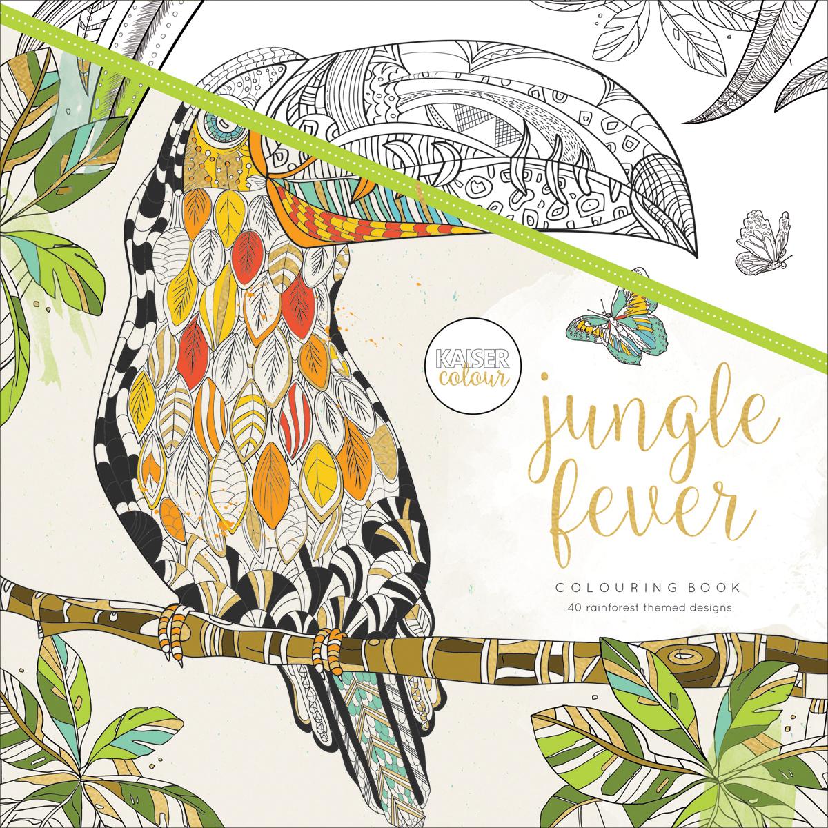 "KaiserColour Perfect Bound Coloring Book 9.75""X9.75""-Jungle Fever"