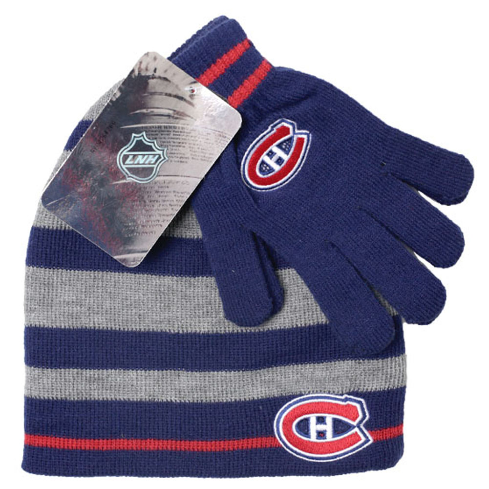 NHL Montreal Canadiens Habs Hat and Gloves