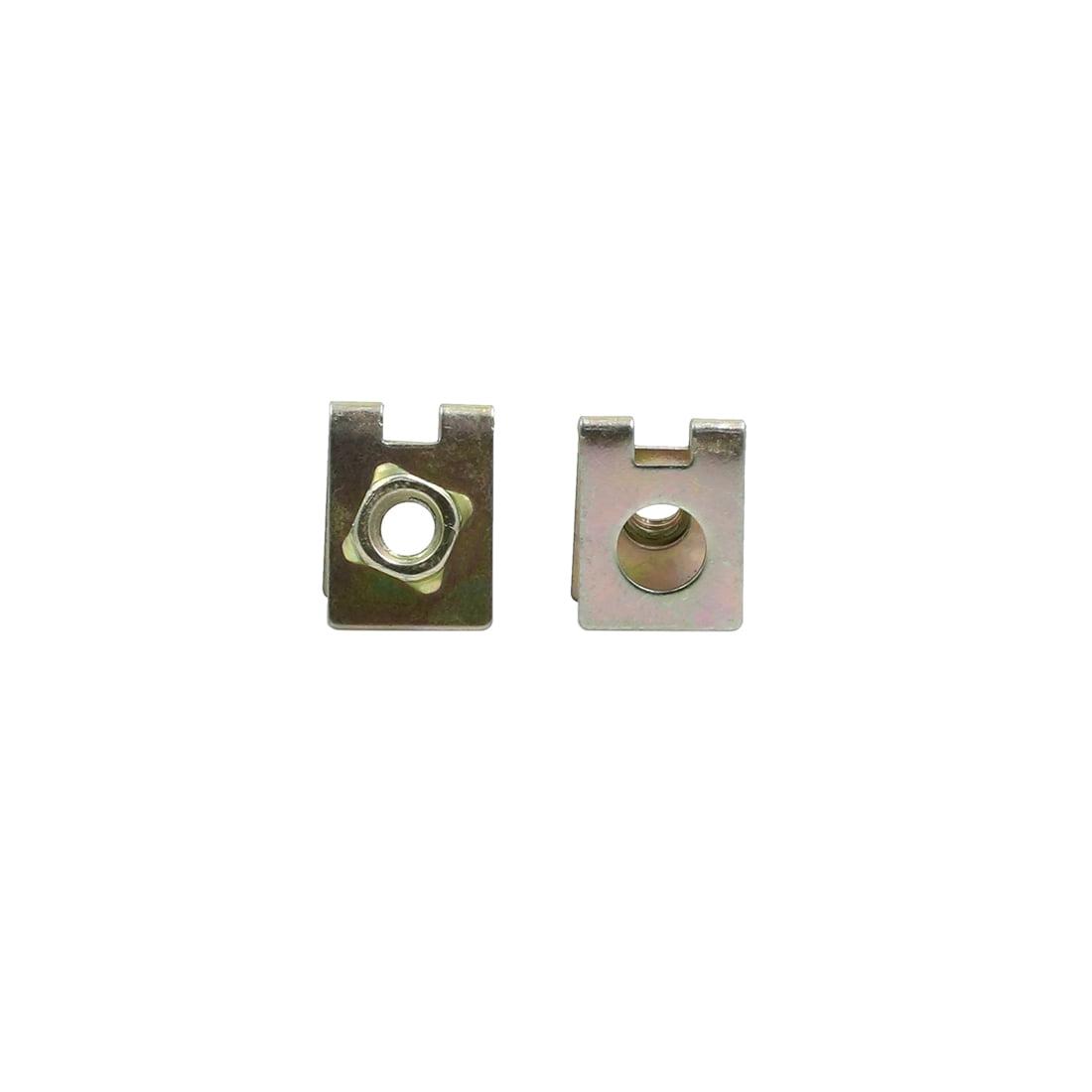4pcs Spring Metal U-type Clip with Screw Car Fender Trim Panel Nuts Fasteners - image 1 of 4