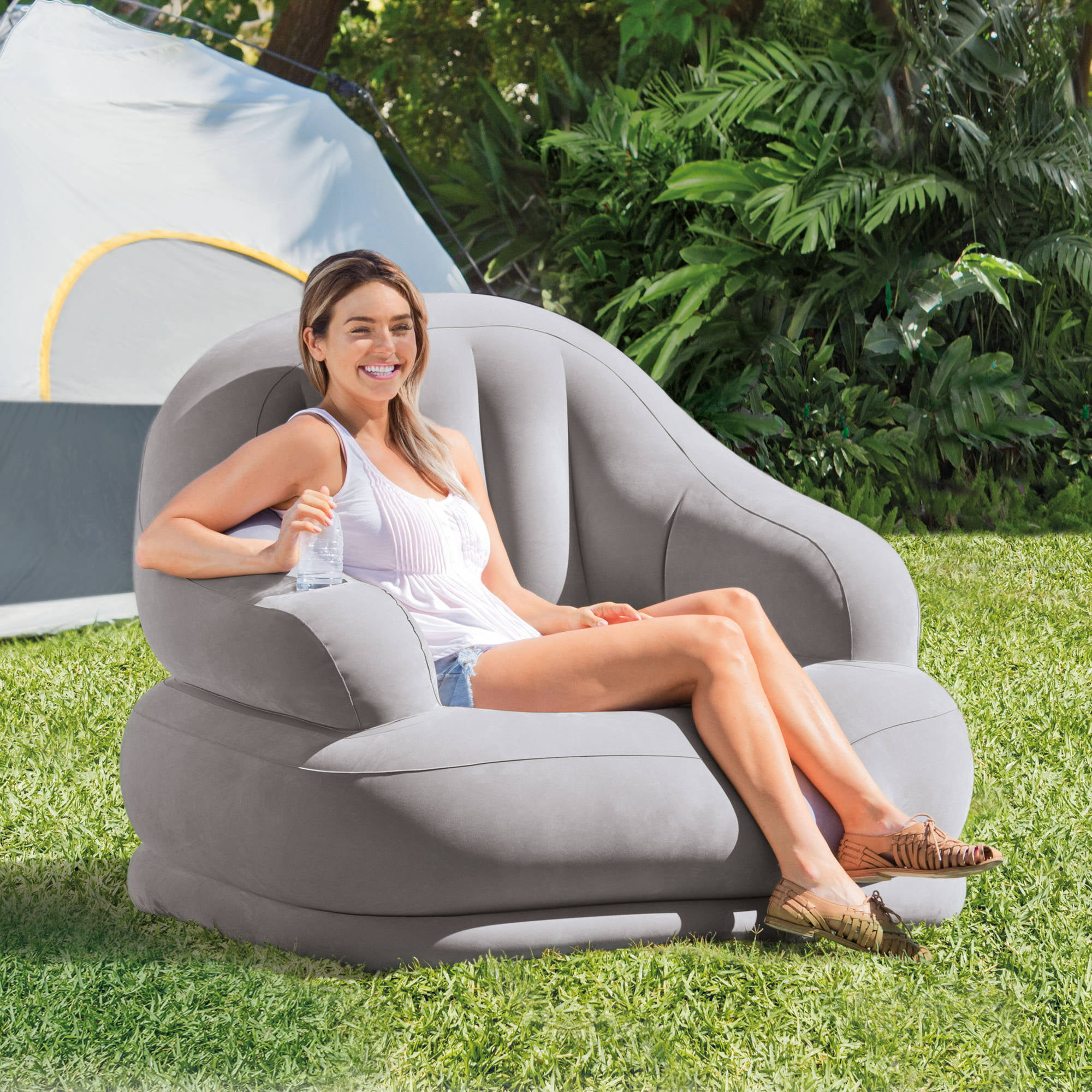 Intex Inflatable Camping Chair 48 X 44 X 39 Walmart Com Walmart Com