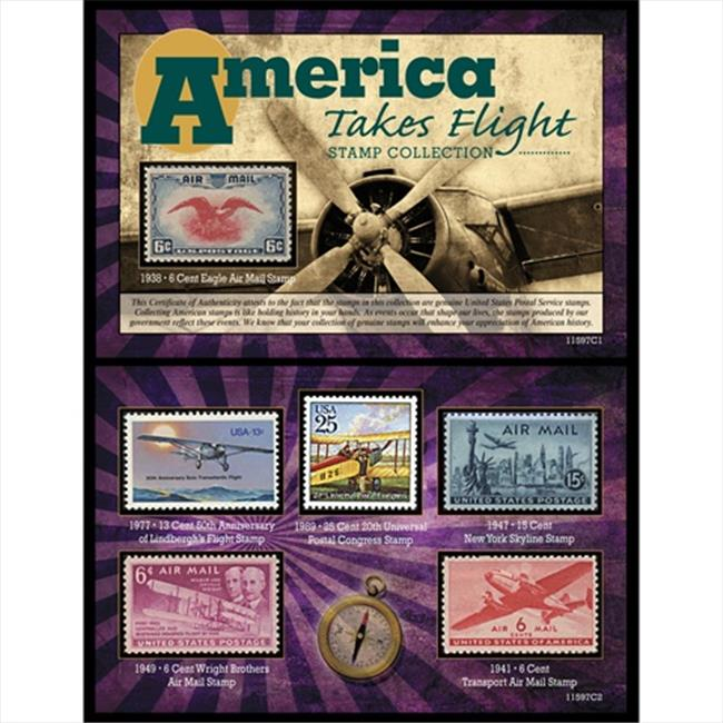 American Coin Treasures 11597 America Takes Flight Stamp Collection