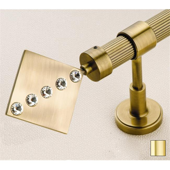 WinarT USA 8. 1040. 25. 03. 160 Hera 1040 Curtain Rod Set - 1 inch - Matte Brass - 63 inch