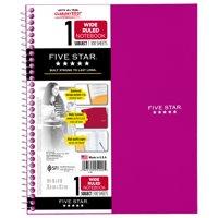 Five Star Wirebound Notebook - 1 Sub 100ct WR, Purple