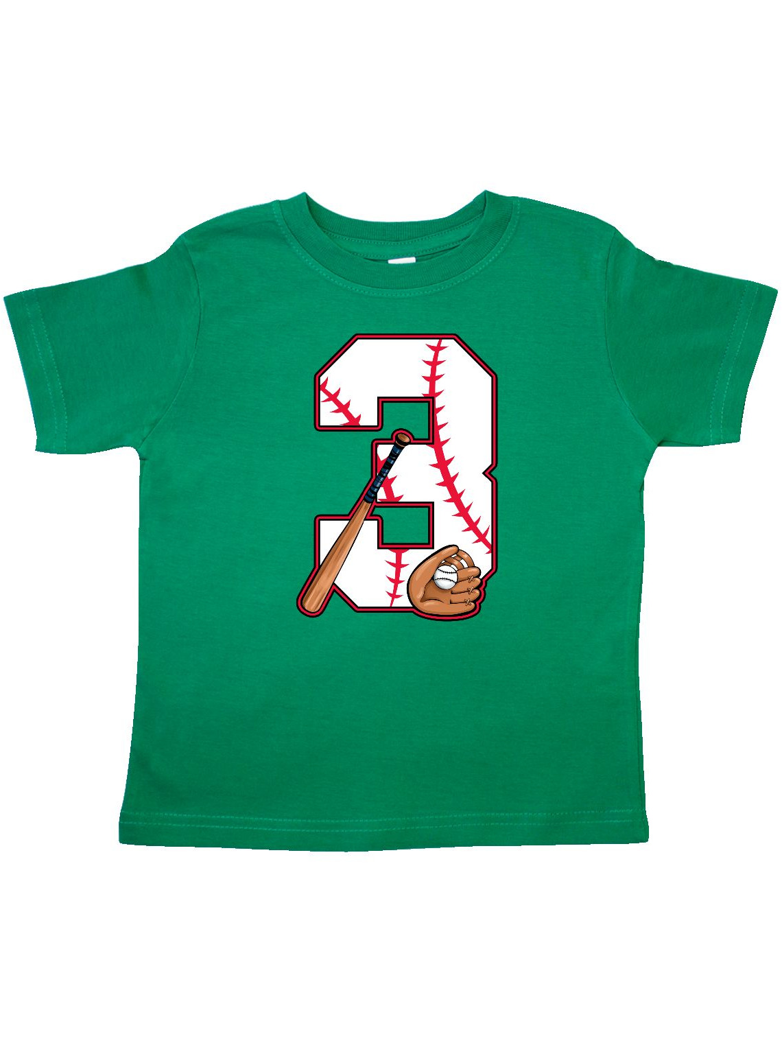 Baseball Third Birthday- three years old Toddler T-Shirt