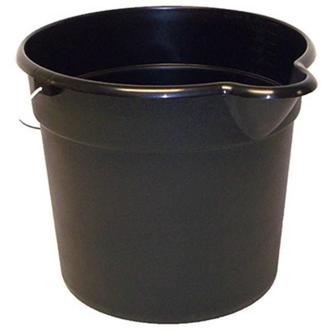 United Solutions 12-Quart Utility Pail with Spout, Black