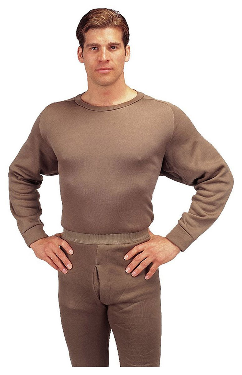 Rothco ECWCS Poly Crew Neck Top - Brown, X-Large