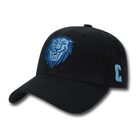 NCAA Columbia University Structured Acrylic 6 Panel Baseball Caps Hats Black