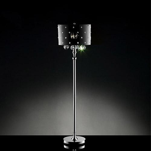 Ore International Inc. Star Crystal Floor Lamp, Silver