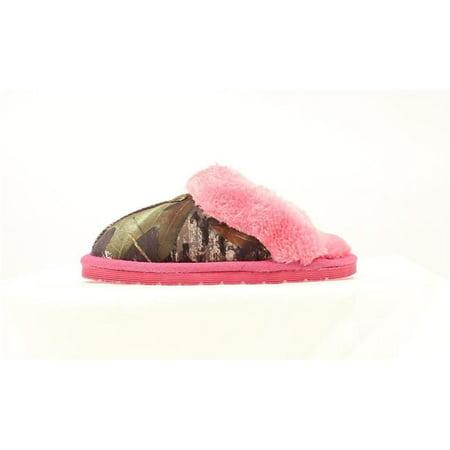 Blazin Roxx 57546222-M Youth Camo Slide Slipper, Hot Pink & Mossy Oak - Medium Hop Pink Camo
