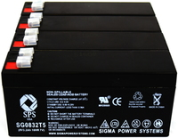 SPS Brand 8V 3.2 Ah Replacement battery for Siemens 630 ( 4 PACK) by SPS