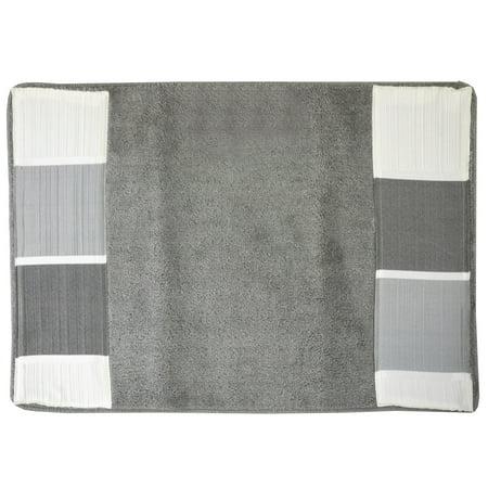 popular bath modern line bathroom bath rug 21 x32 gray. Black Bedroom Furniture Sets. Home Design Ideas