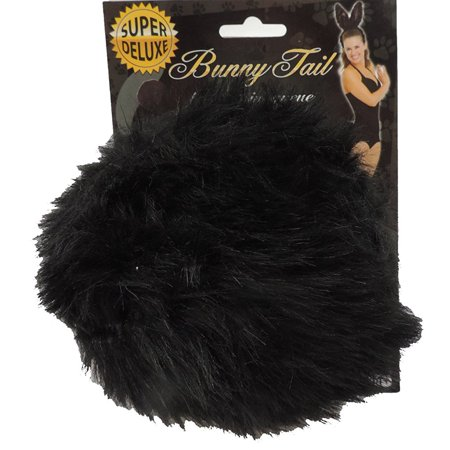 Deluxe Jumbo Black Bunny Rabbit Tail Costume Accessory - Black Lace Bunny Ears