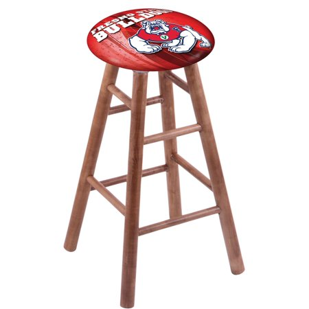 - Maple Bar Stool in Medium Finish with Fresno State Seat by the Holland Bar Stool Co.
