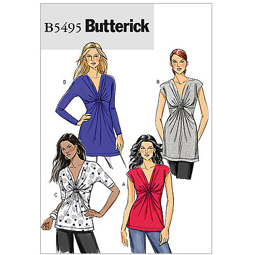 Butterick Pattern Misses' Top, FF (16, 18, 20, 22)