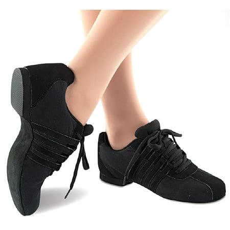 Danshuz Women's Zoom Canvas Jazz Black Sneakers 10.5 M ()