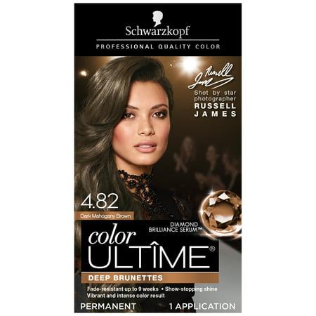 Schwarzkopf Color Ultime Permanent Hair Color Cream, 4.82 Dark Mahogany (Best Toner For Brown Hair)