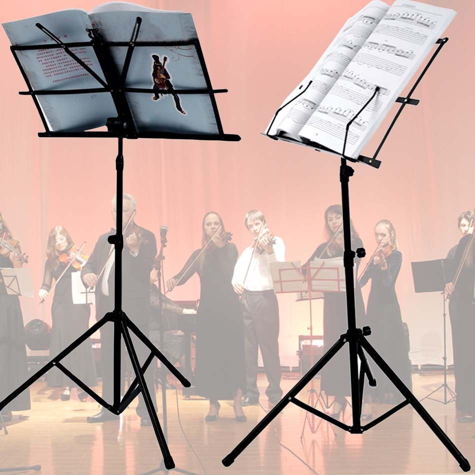 COOCHEER Adjustable Folding Metal Music Stand For SHeet Music,Black by