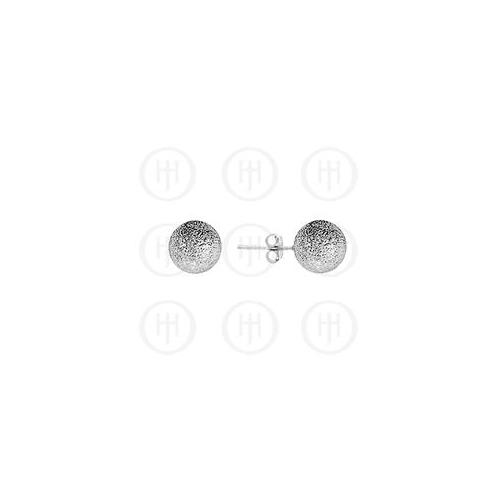 Doma Jewellery MAS06120 Sterling Silver -Ball 8mm Stud Earrings Sandblasted Sterling Silver -Colour -ST-