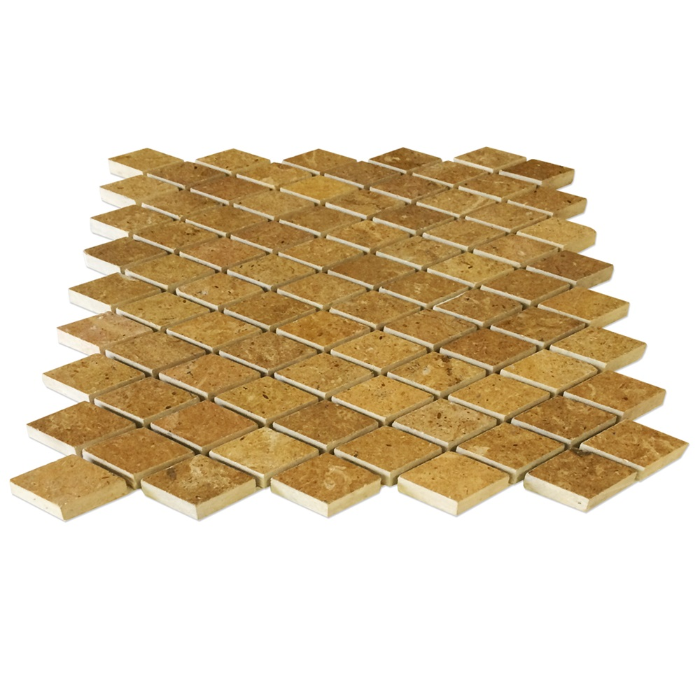 Inca Gold Marble Diamond Mosaic Tile