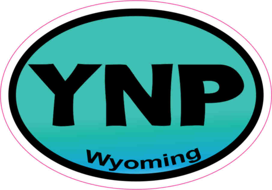3inx2in turquoise oval ynp wyoming sticker vinyl yellowstone car stickers