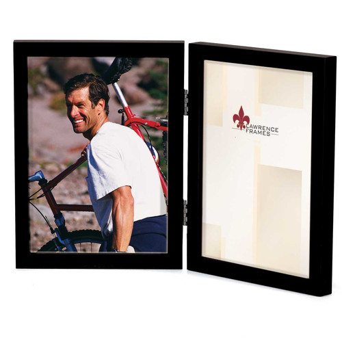 Lawrence Frames Contemporary Gallery Hinged Double Wood Picture Frame