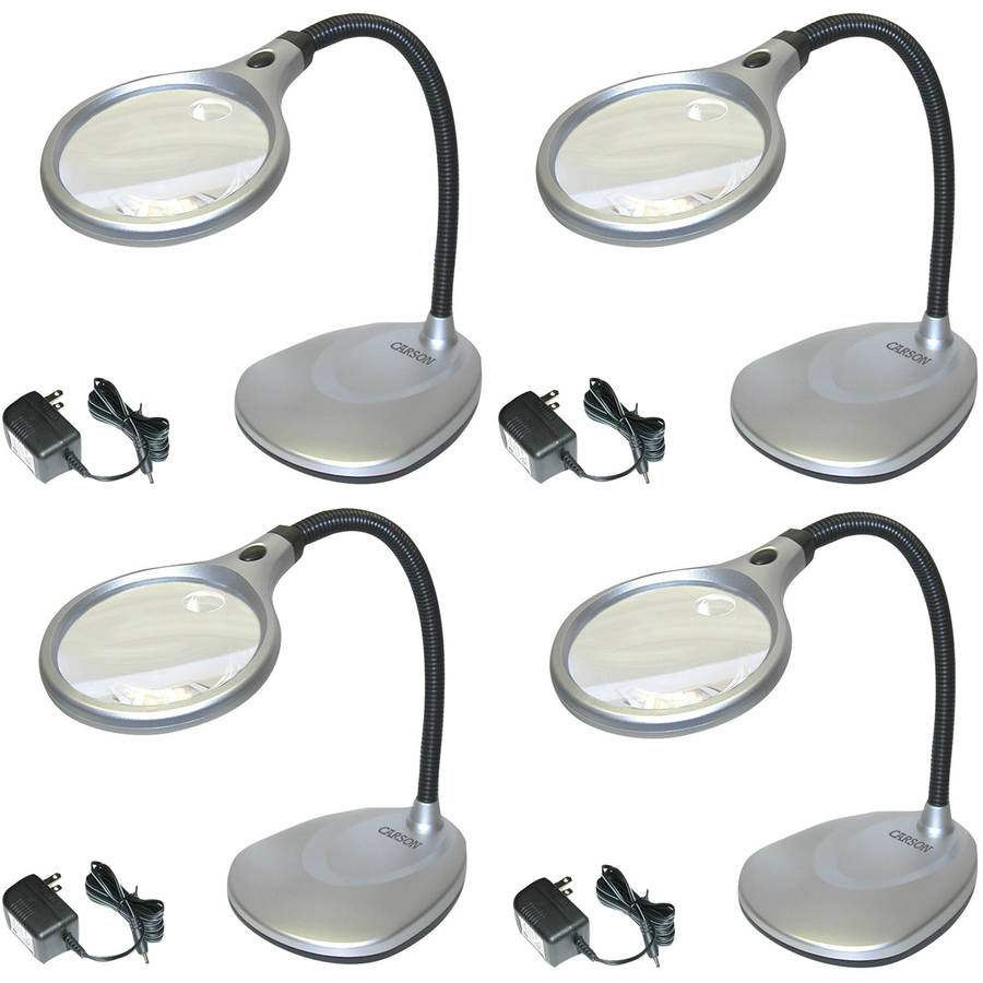 4pk Carson LM-20 Deskbrite200 2x LED Magnifying Lamp with 5x Spot ...