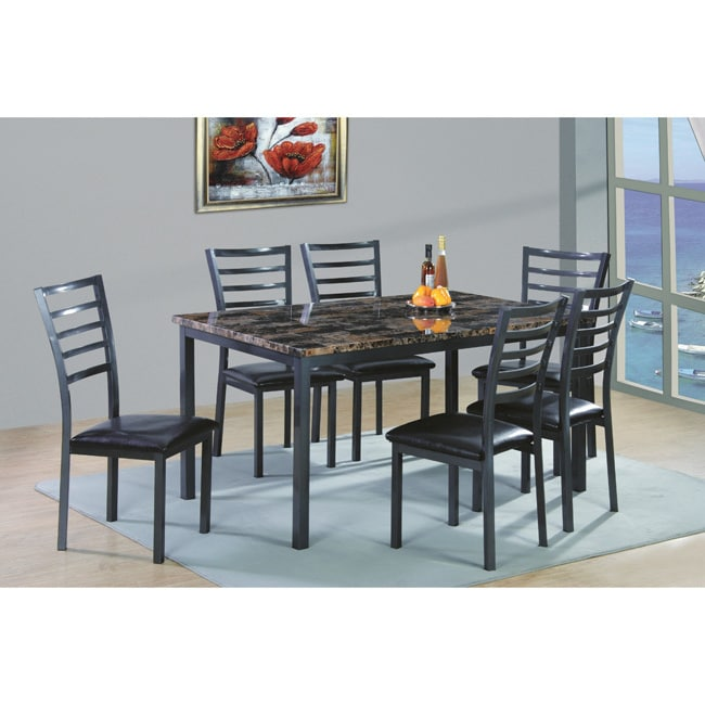 7 piece dinette set outerlands charcoal this button opens dialog that displays additional images for this product with the option to zoom in or out easy home living 7piece dinette set walmartcom