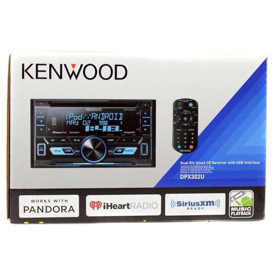 Kenwood dpx302u double din in dash cd receiver with front usb and kenwood dpx302u double din in dash cd receiver with front usb and auxiliary inputs and siriusxm ready walmart asfbconference2016 Choice Image