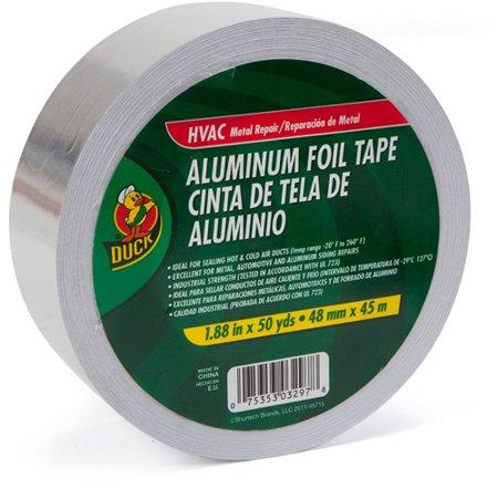 "Duck Brand HVAC Aluminum Foil Repair Tape, 1.88"" x 50 yds"