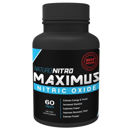 Naturo Sciences Naturo Nitro Maximus Nitric Oxide Booster, High Potency NO Booster 60