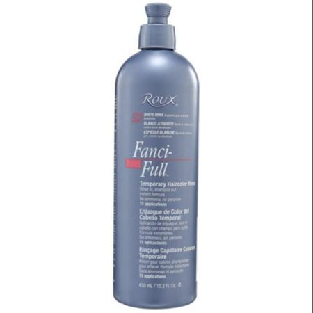 Roux Fanci Full Temporary Color Rinse White Minx  Dark Brown Hairs