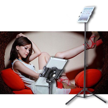 360 Degree Rotating Multi Direction Tablet Floor Tripod Stand Holder For 7 10 Inch Ipad 2 3 4 Air Video Chat Games Reading