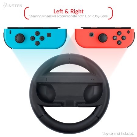 Nintendo Switch Wheel by Insten Joy-Con Protective Steering Wheel Handle Grip [Extra Protection] for Nintendo Switch Joy Con Left/Right Controller Racing Game Accessories - Black - image 4 de 10