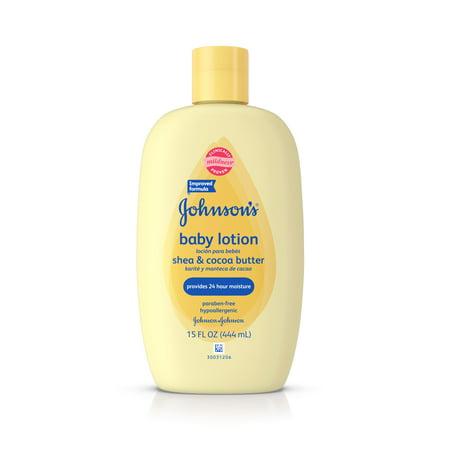 Johnson's Baby Shea et le beurre de cacao Lotion pour la peau sèche, 15 Fl. oz