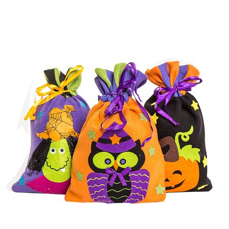 Halloween Engagement Party (Halloween Cute Witches Candy Bag Packaging Children Party Storage Bag Gift)