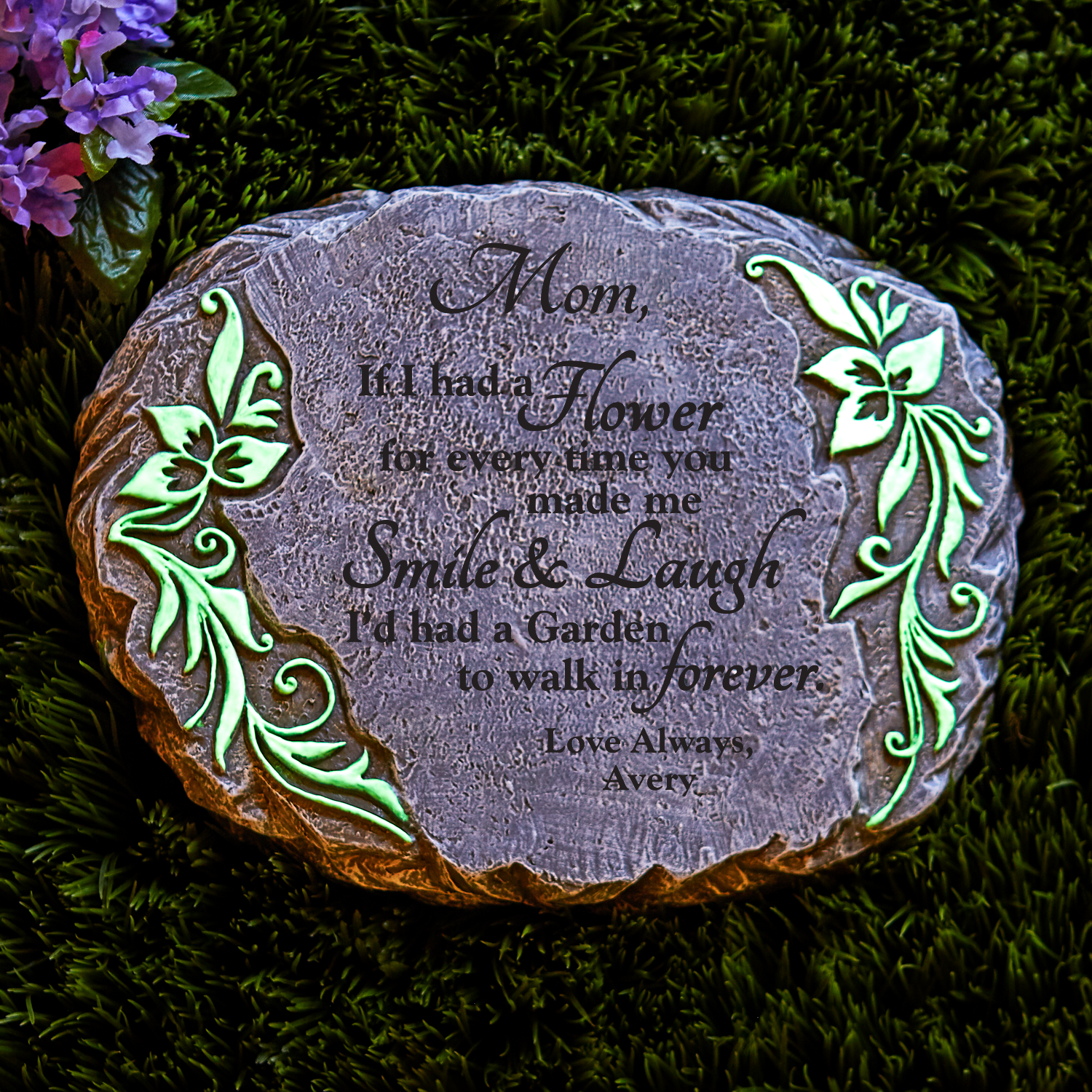 Personalized Forever Garden Glow Stepping Stone - I