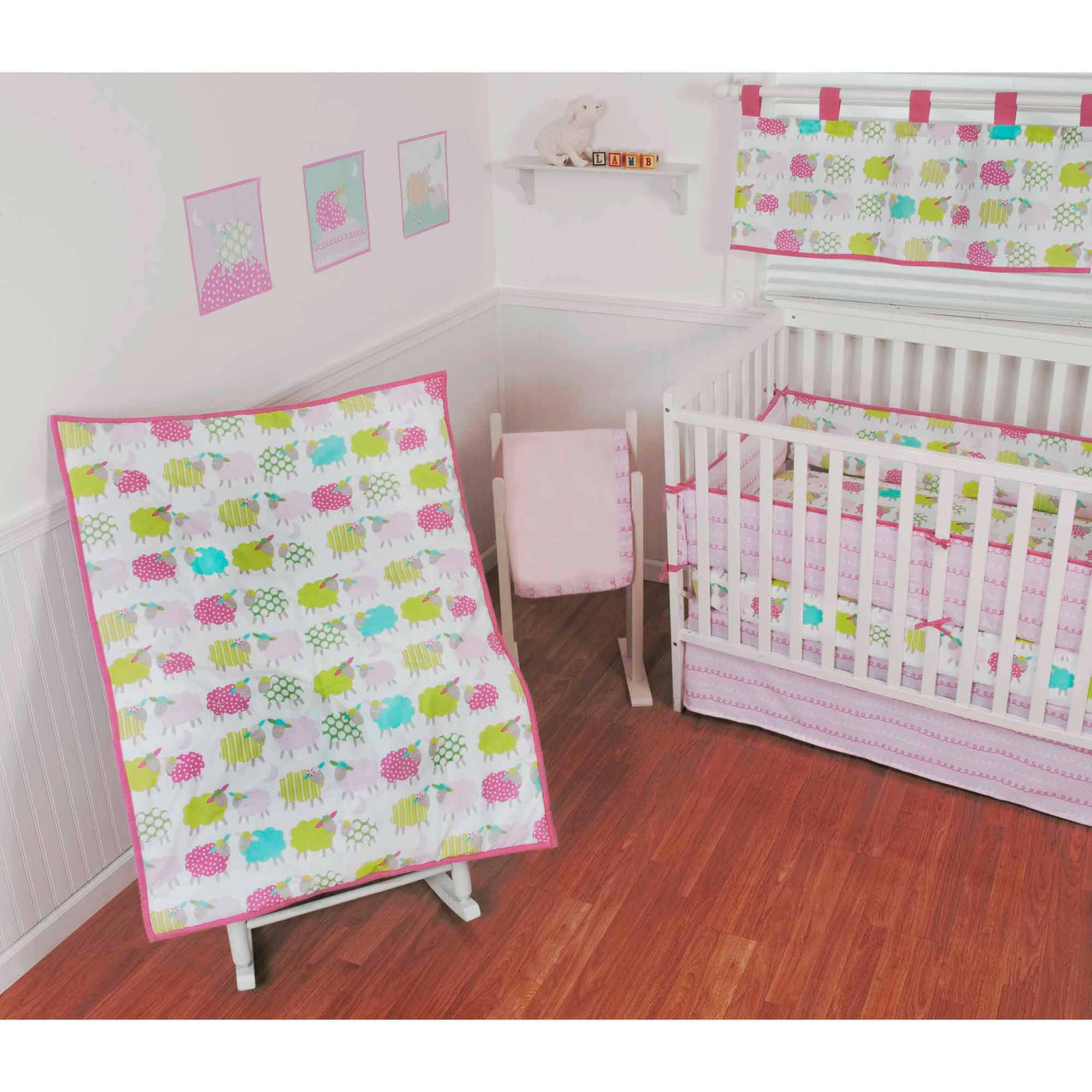 Sumersault Lamby Pie 10-Piece Crib Set