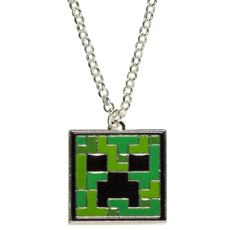 Minecraft Creeper Pendant Necklace (Video Game Necklace)