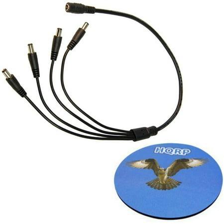 HQRP DC Female to 4 Male Power Splitter Cable for Q-See Security System Model: QT578-8C2 / QC828-4C9-2 / QT728-4G7-1 / QT5682-8K8 plus HQRP