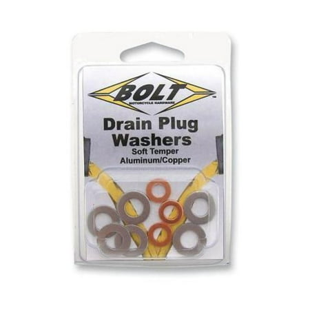Bolt MC Hardware DPWM10.145-10 M10 Banjo Washers - Aluminum/Copper - 10pk