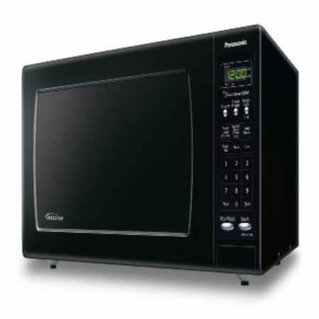 ... Black 1.6 Cu. Ft. Countertop Microwave Oven with Inverter Technology