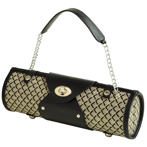 Wine Carrier Purse in Black Diamond