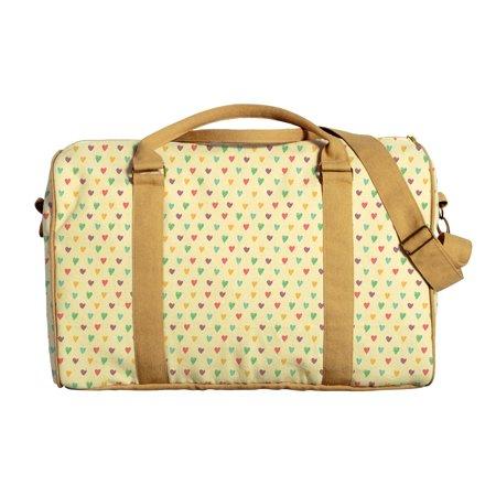 Stylish hearts Pattern Printed Oversized Canvas Duffle Luggage Travel Bag WAS_42