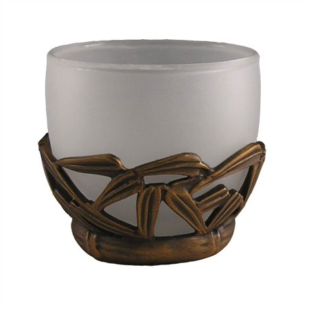 Bamboo Vanity Top Votive (Antique Bronze)