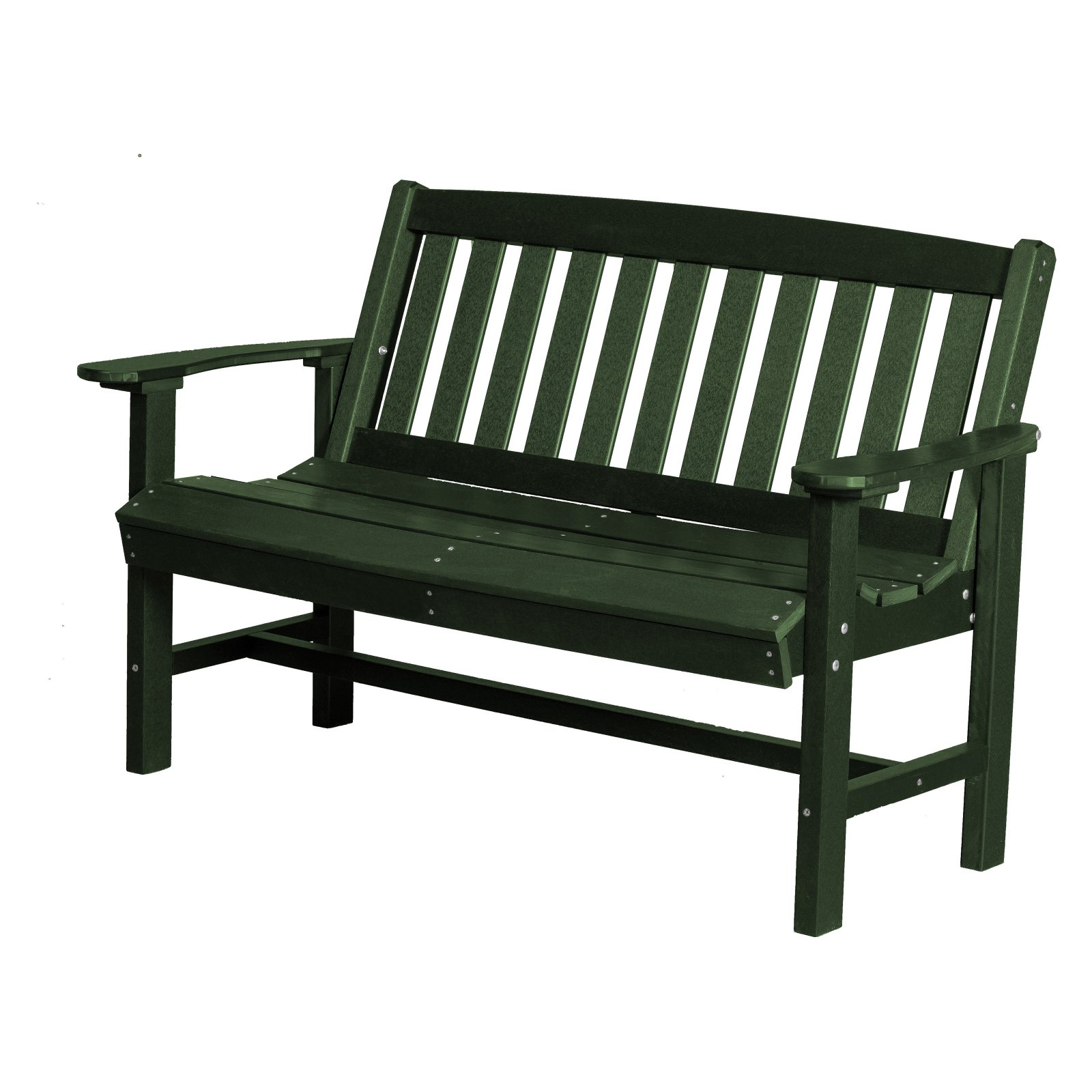 Little Cottage Classic Mission Garden Plastic Resin Bench