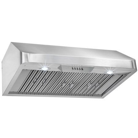 Akdy 36 Stainless Steel Under Cabinet Clical Push On Control Range Hood Vent