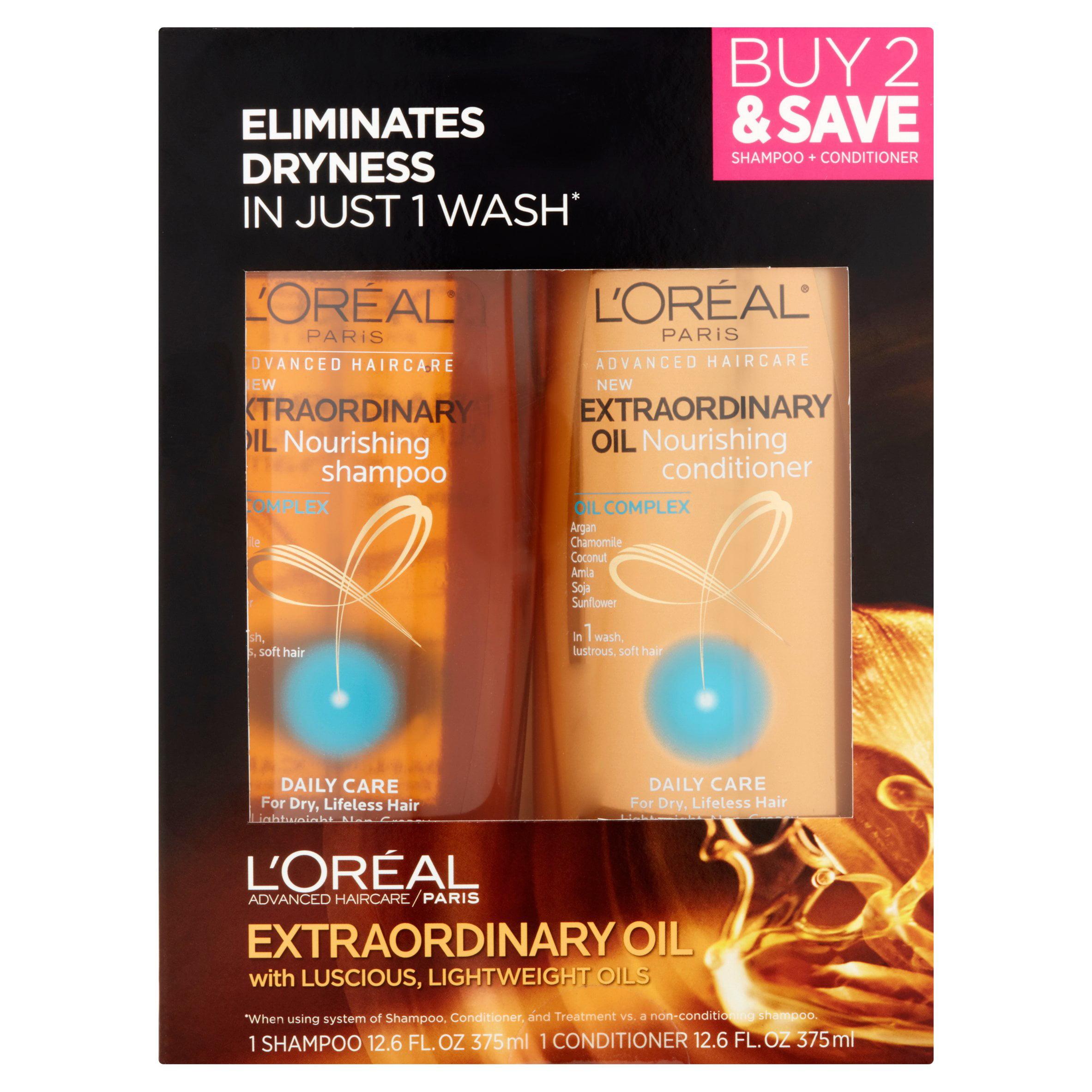 L'Oreal Paris Advanced Haircare Extraordinary Oil Shampoo & Conditioner