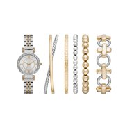 Women's Two-Tone Watch and Bracelets Gift Set